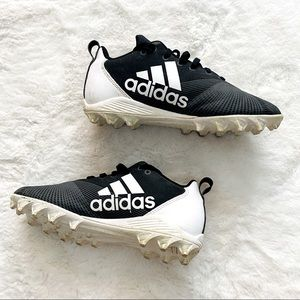 Adidas Black & White Soccer Cleats
